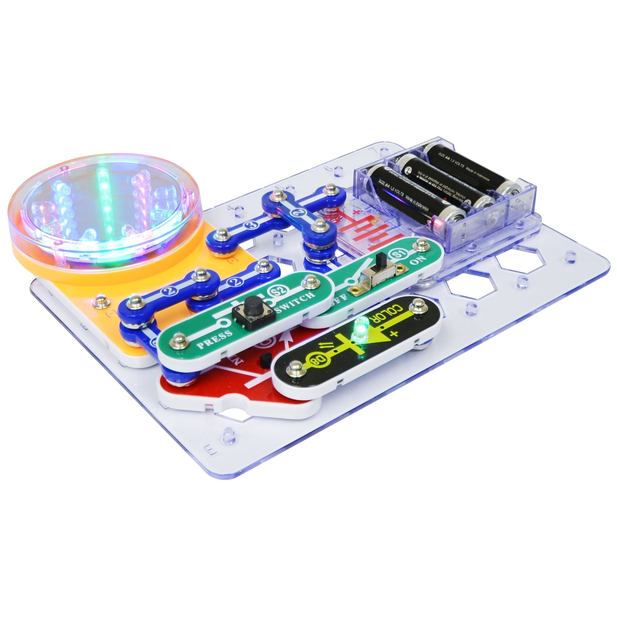 Snap Circuits 3d Illumination Elenco Basic Electronic Circuit Kickstarter Scribe