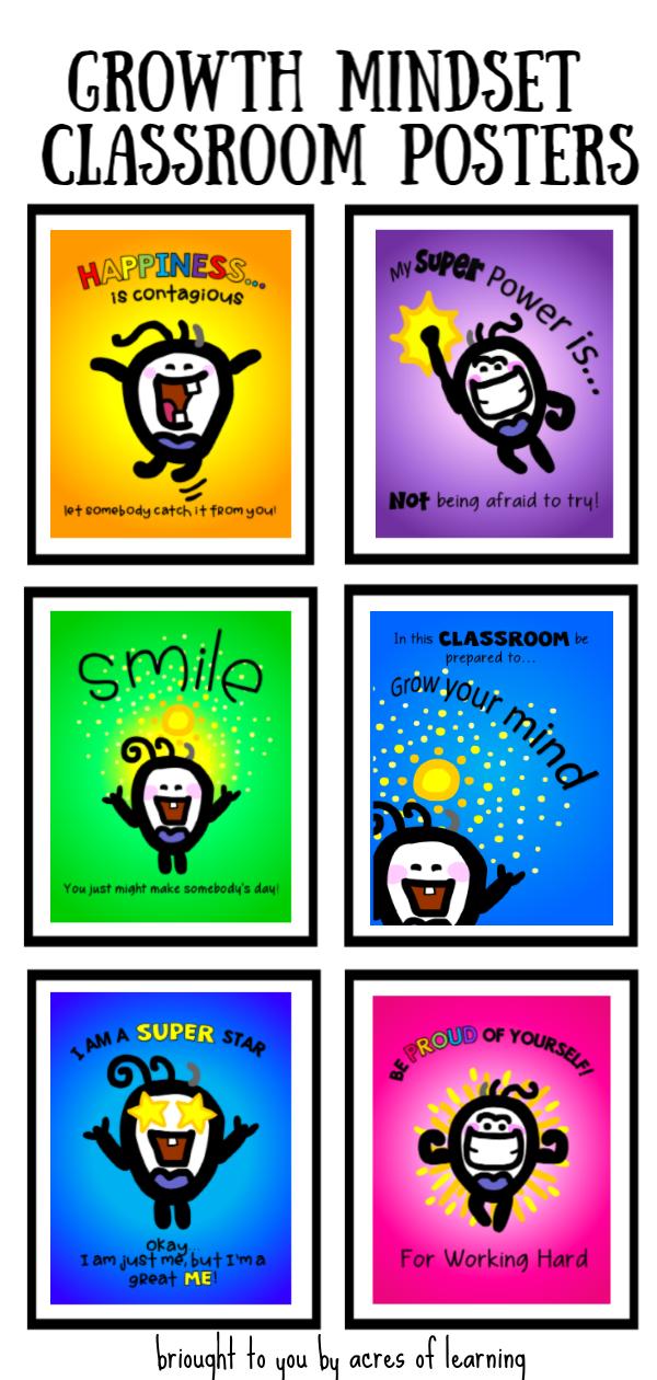 Growth Mindset Classroom Mini Posters Growth Mindset Classroom Growth Mindset Classroom