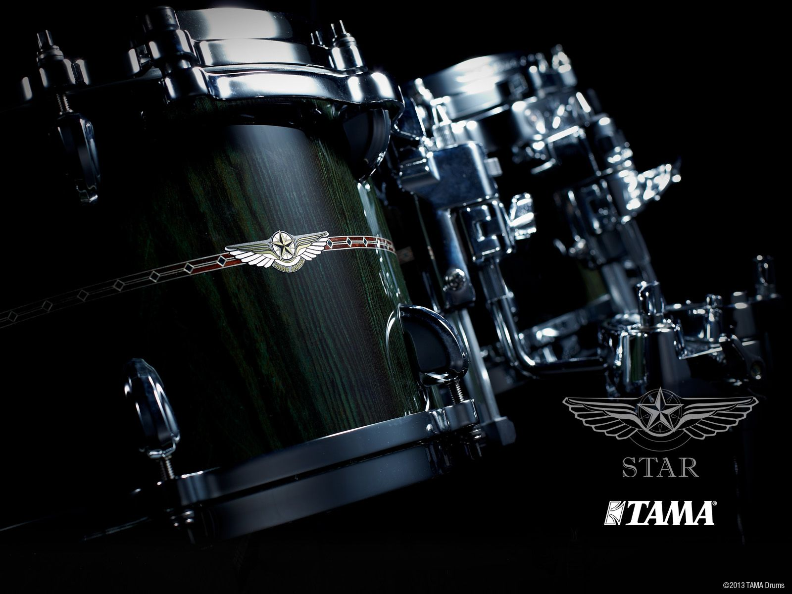 star bubinga dark green cordia cdkg kits in 2019 drums wallpaper drums drum accessories. Black Bedroom Furniture Sets. Home Design Ideas