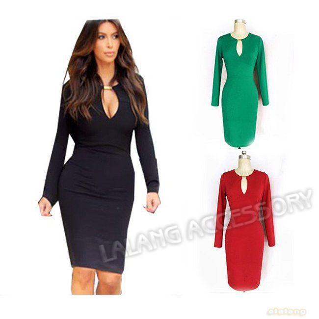 Black keyhole dress plus size