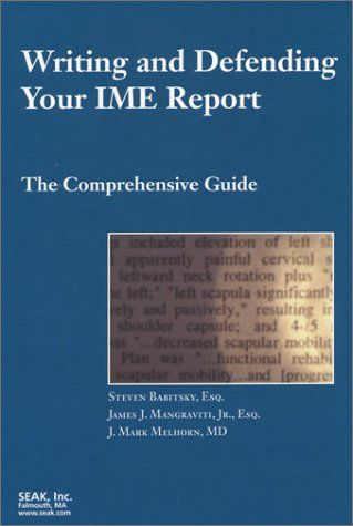 Bestseller Books Online Writing And Defending Your Ime Report The Comprehensive Guide Steven Babitsky Esq James J Writing A Book Bestselling Books Writing