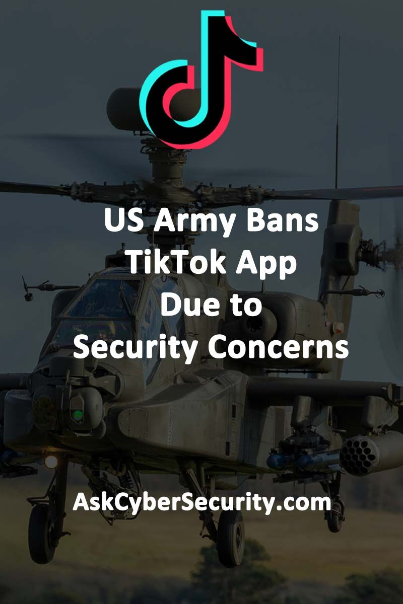 US Army Bans TikTok App Due to Security Concerns and China