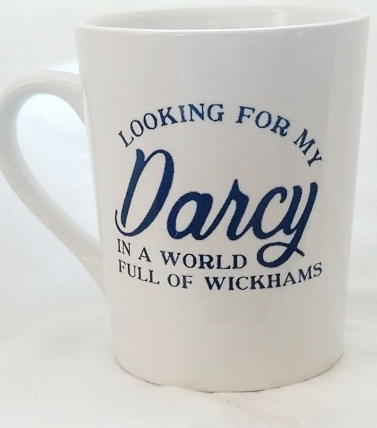 Pride and Prejudice Looking for My Darcy Mug. 11 oz Mug. Jane Austen Mug #prideandprejudice