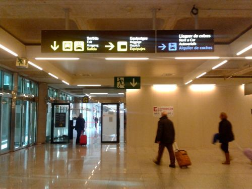 Car Hire Palma Airport >> Mallorca Spain Arrivals Sign For Car Hire In Baggage
