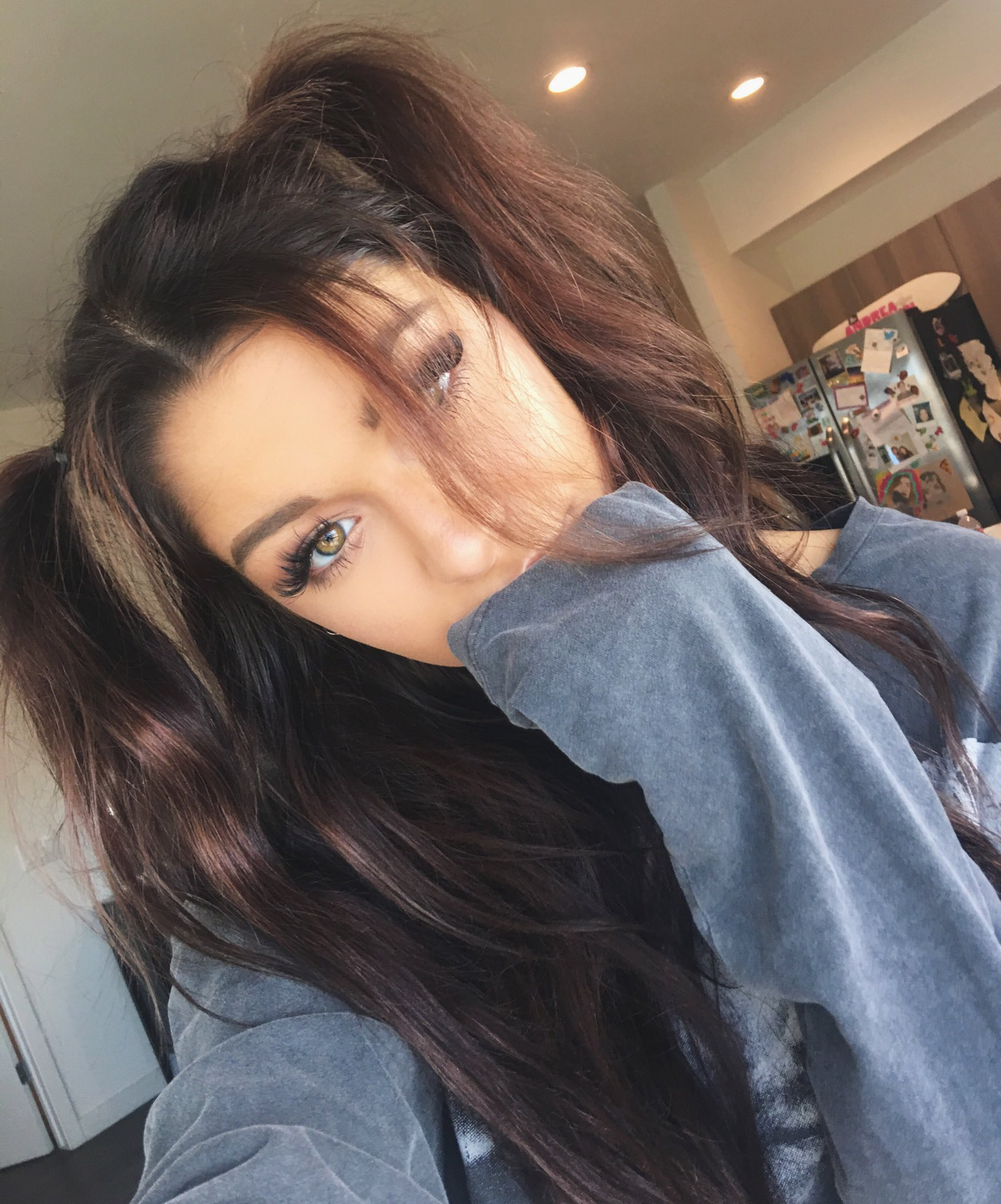 Pin By Teardrop On Queen Andrea Andrea Russett Edgy Hair Hair Styles