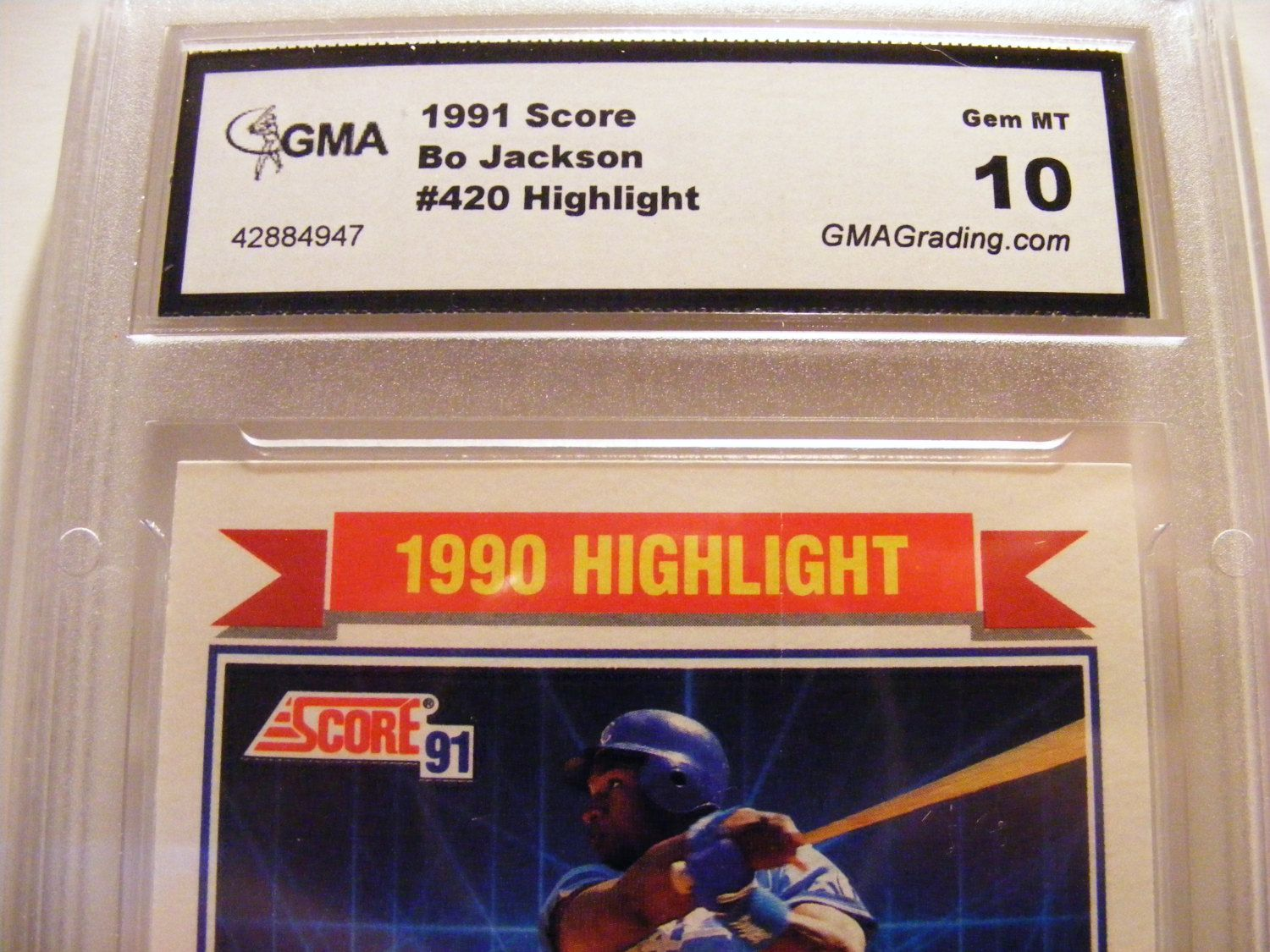 Vintage Baseball Card 1991 Score Bo Jackson 420 Highlight Gma