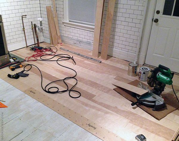diy: how to install wood flooring for less than $1 sq. ft. - using
