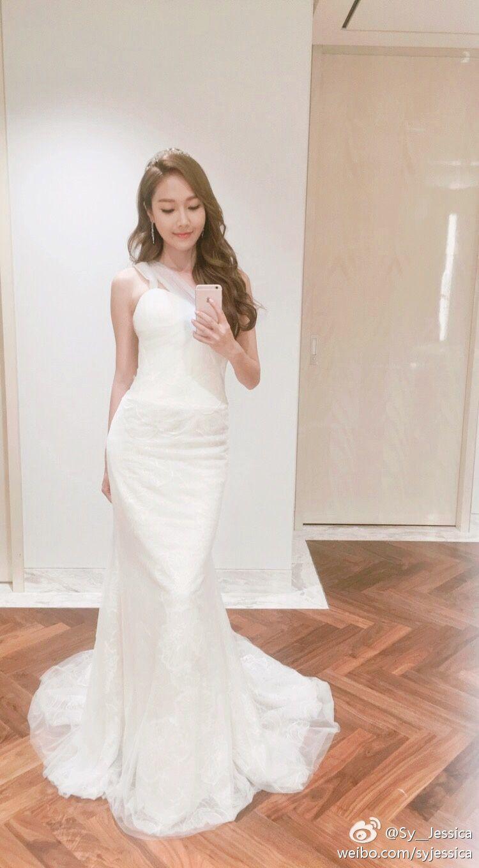 Jessica Jung In A Wedding Gown Weibo ̆Œë…€ì‹œëŒ€ ̗°ì˜ˆì¸ ̆Œë…€