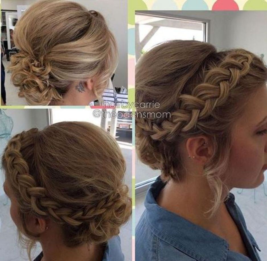 60 Creative Updo Ideas for Short Hair   Braided updo for ...