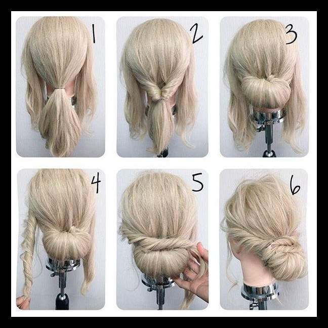 Best 25 Simple Updo Ideas On Pinterest Simple Hair Updos Womanadvise Womanadvise Com Hair Styles Medium Hair Styles Simple Wedding Hairstyles