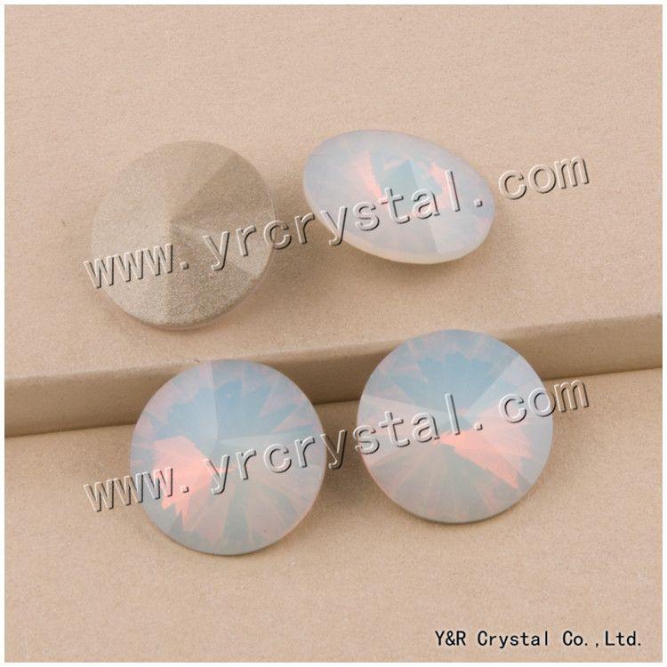 66803ccfd3 YANRUO 1122 Rivoli White Opal Crystal Stones All Sizes 6,8,10,12,14 ...