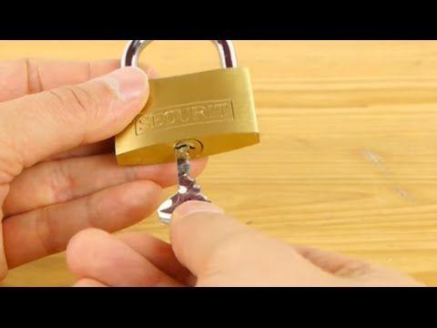 Como hacer una llave para abrir cualquier candado en 5 segundos