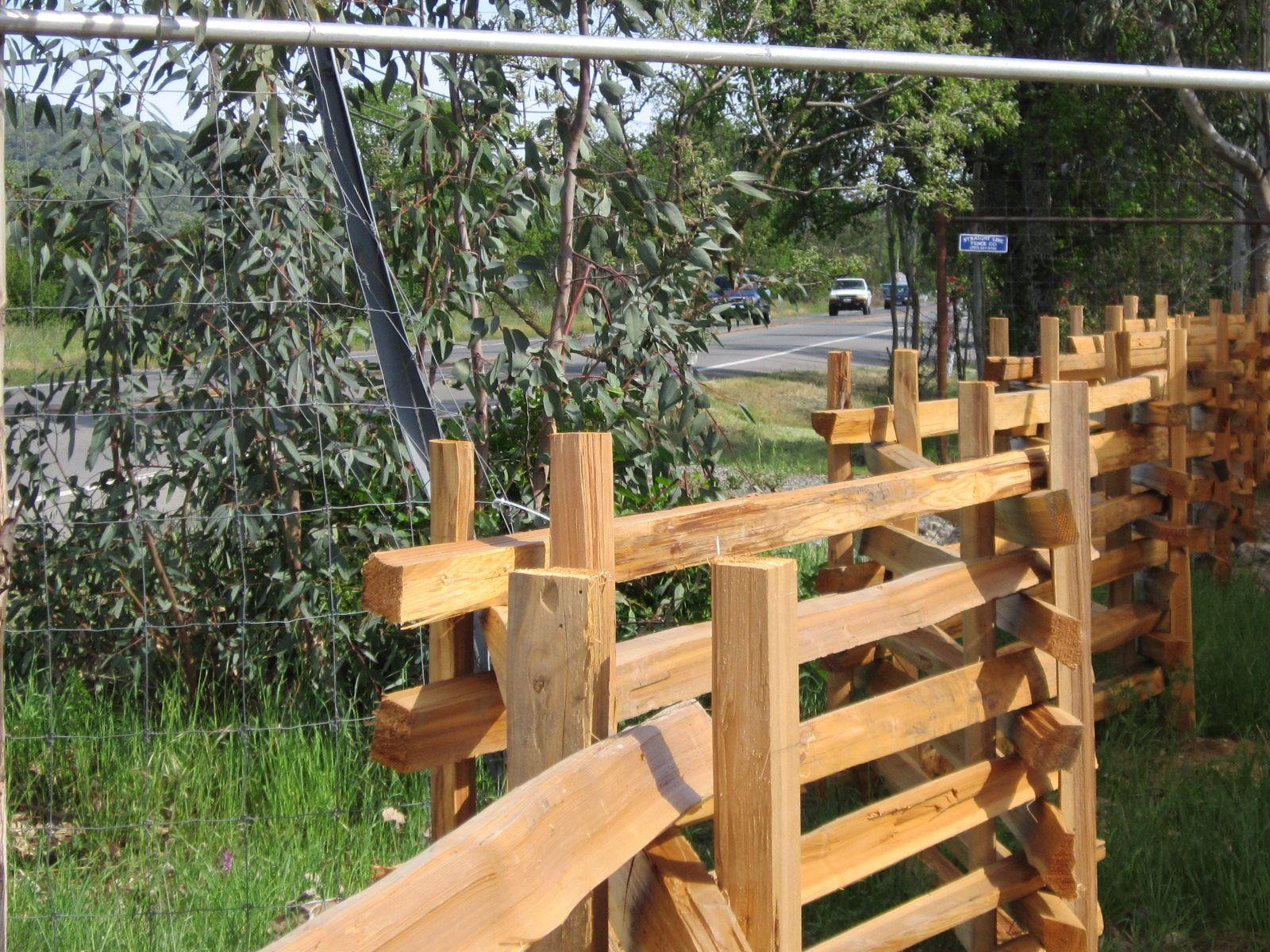 Stacked Split Rail Fence | Farm plans, Trellis gate ...