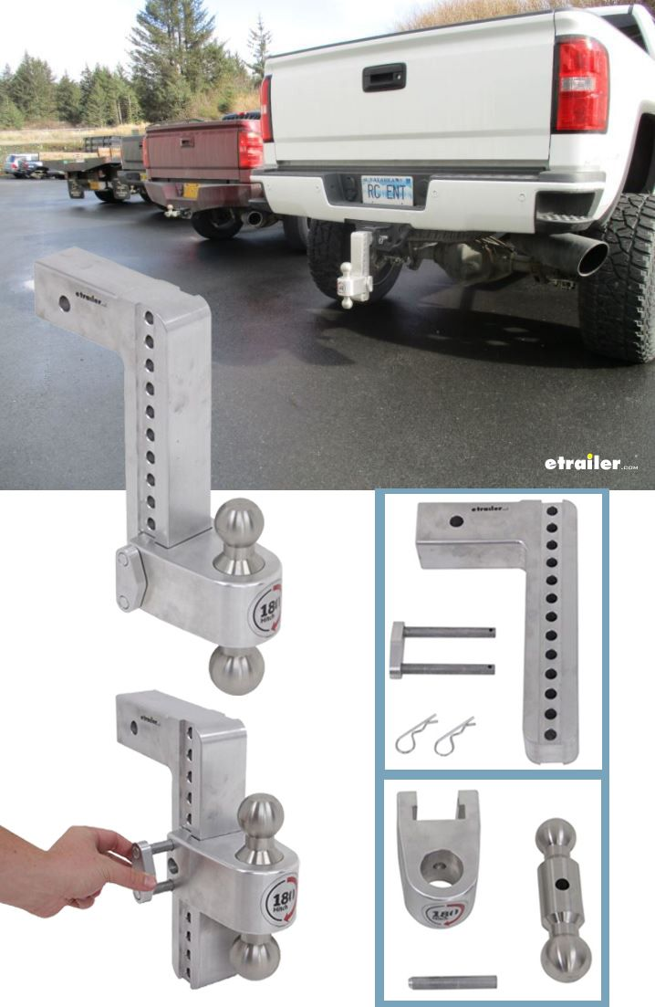 180 Hitch 2 Ball Mount W Stainless Balls 2 1 2 Hitch 10