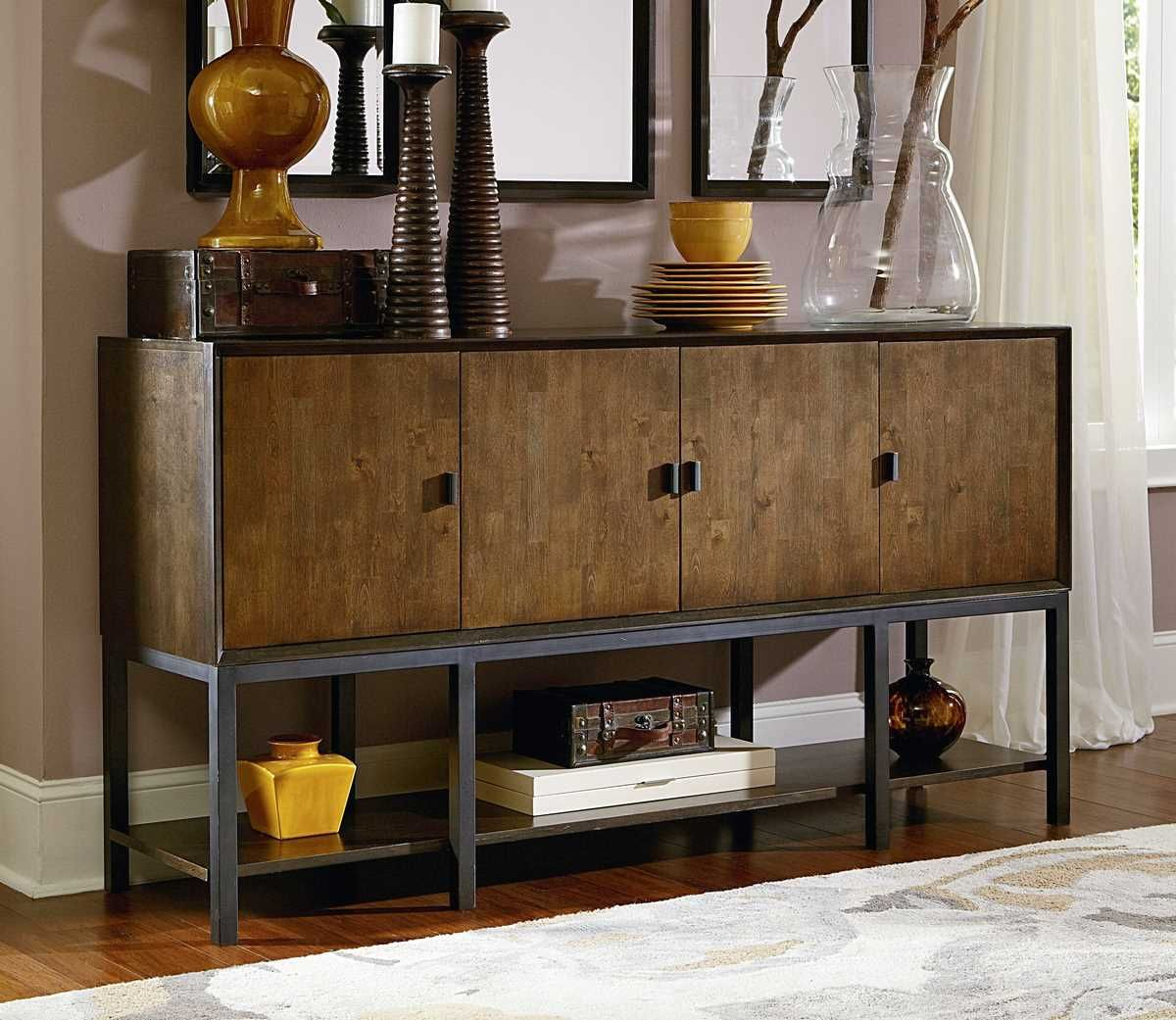 Kateri Contemporary Sideboard /w 4 Wood Doors is a part of Kateri Collection by Legacy Classic Furniture #Sideboard #LegacyClassicFurniture