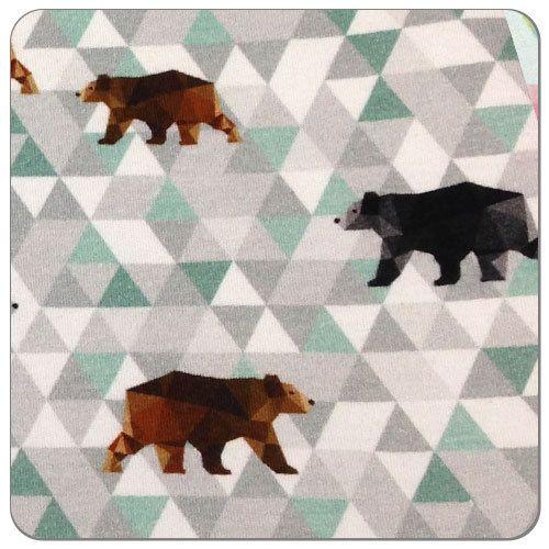 Wild Bear Cotton Spandex Knit Fabric Fabric Cotton Spandex Knitted Fabric