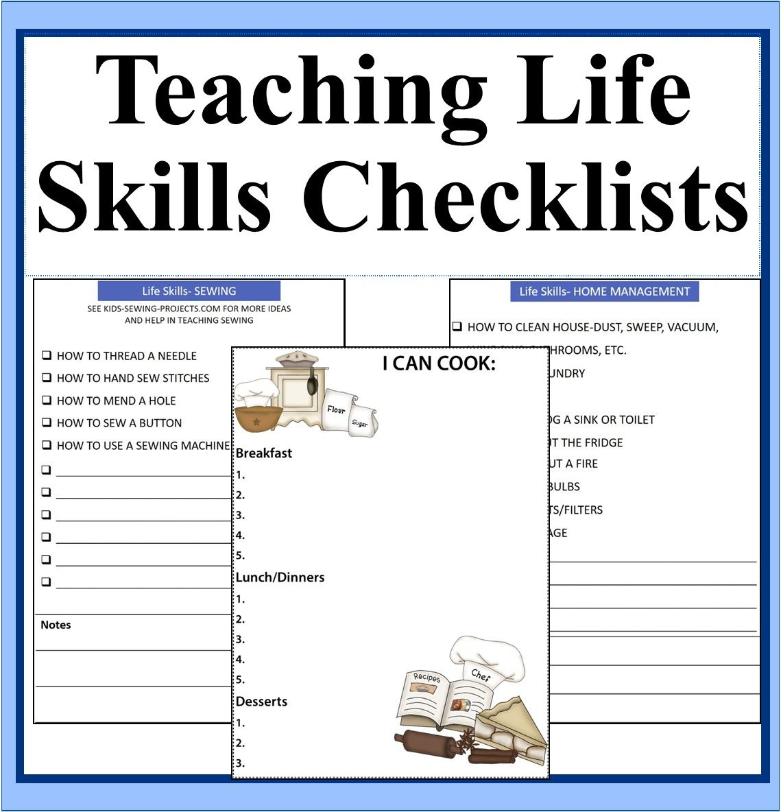 Teaching Life Skills Checklists And Resources Digital Download Teaching Life Skills Teaching Life Life Skills [ 1184 x 1139 Pixel ]