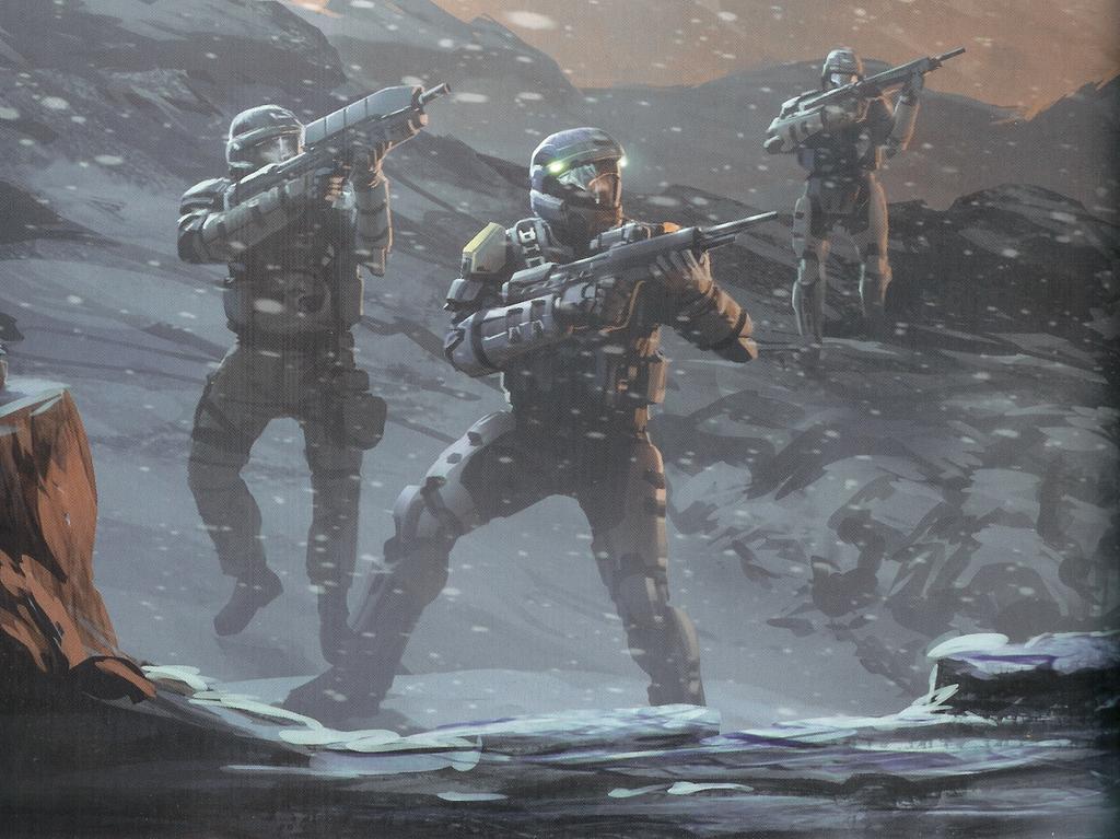 Odst squad in halo mythos | Amazing Halo art | Halo game, Halo armor