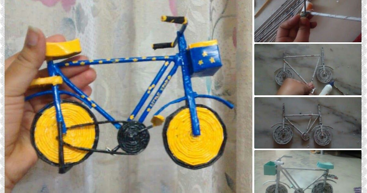 How To Make Bicycle From Newspaper Tube With Images Newspaper