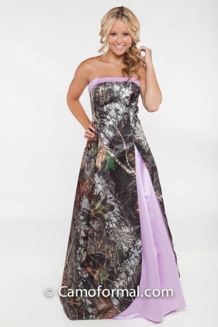 New Camo Heather A Line Scalloped Front Camo Wedding Dress Dress