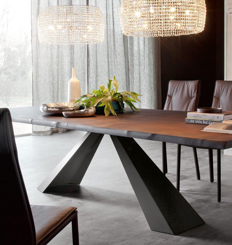Cattelan Italia Esstisch Eliot Wood Gebrannte Eiche Esszimmertisch Esstisch Tisch Und Stuhle