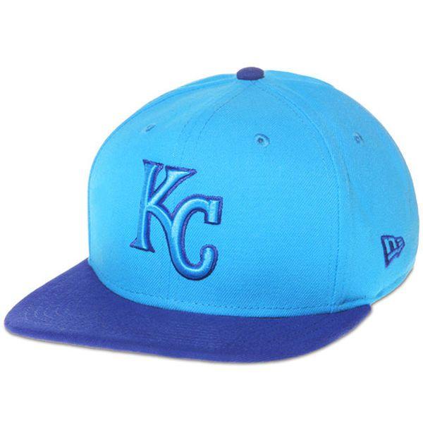 Men s Kansas City Royals New Era Blue Royal 2-Tone Pop Basic 9FIFTY  Adjustable be33bc770893
