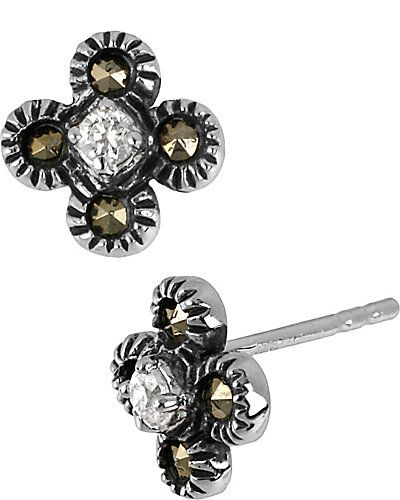 PRECIOUS LUXURIES FLOWER STUD METALLIC