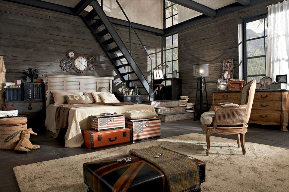 Charming Industrial+chic+bedroom+brettVdesign