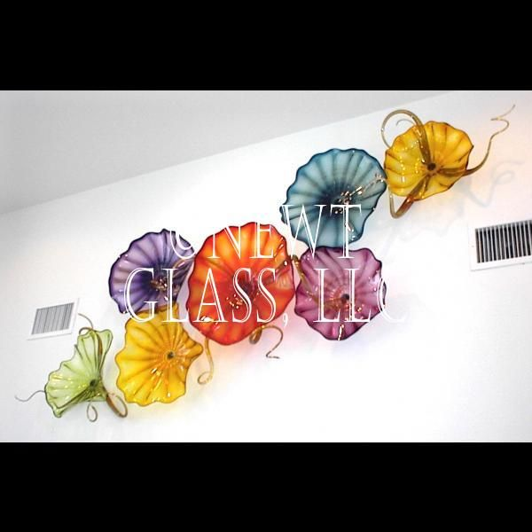 Gem colors of blown glass wall plates gallery