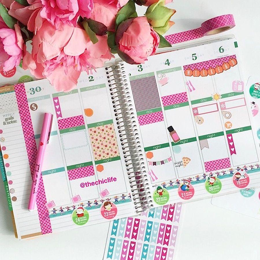 Planner Decoration Ideas December 2015 Erin Condren Vertical
