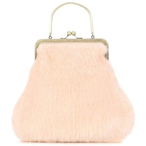 Shrimps Arthur Faux Fur Clutch 375 Liked On Polyvore Featuring Bags Pursepink