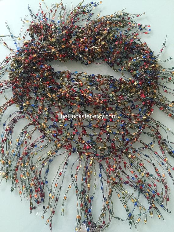 This Crochet Ladder Yarn Scarf Is Made Of A Turkish Ladder Yarn