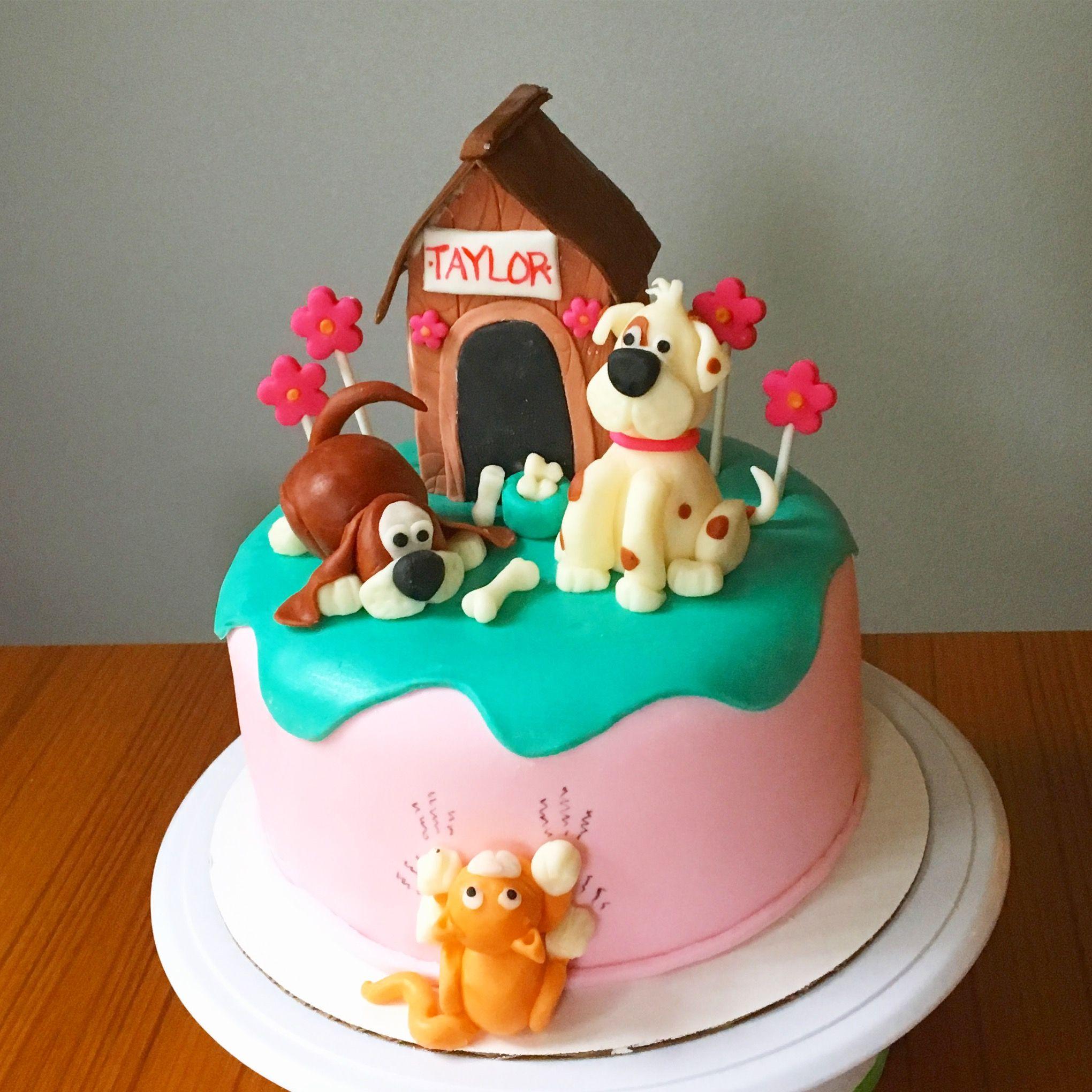 Puppies And Kittens Birthday Cake Kitten Cake Cake Custom Cakes