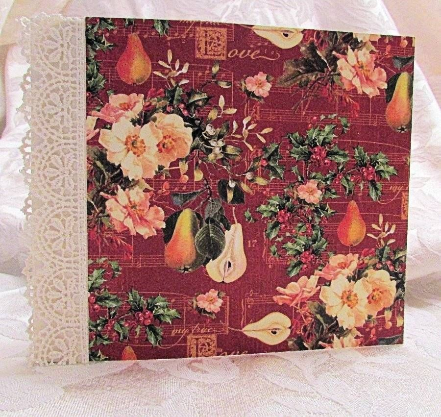 "TPHH DIY ""Decorate it Yourself"" Christmas Graphic 45 Mini Scrapbook Handmade SWA #Graphic45"