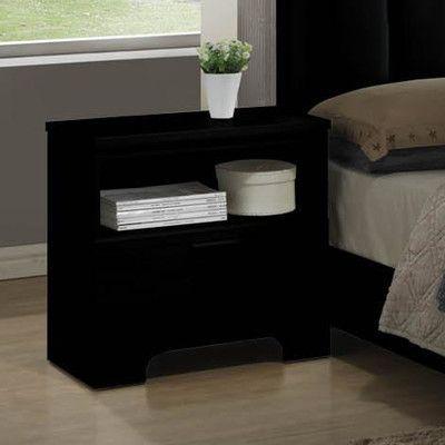 Wildon Home  Moderno 1 Drawer Nightstand Finish: