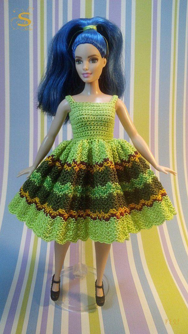 Барби салон. | Barbie | Pinterest | Barbie kleider, Barbie und Häkeln