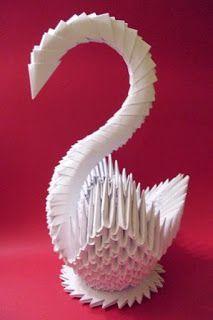 Cisne De Papel Plegado, Origami 3D, Reciclado : VCTRYu0027s BLOG