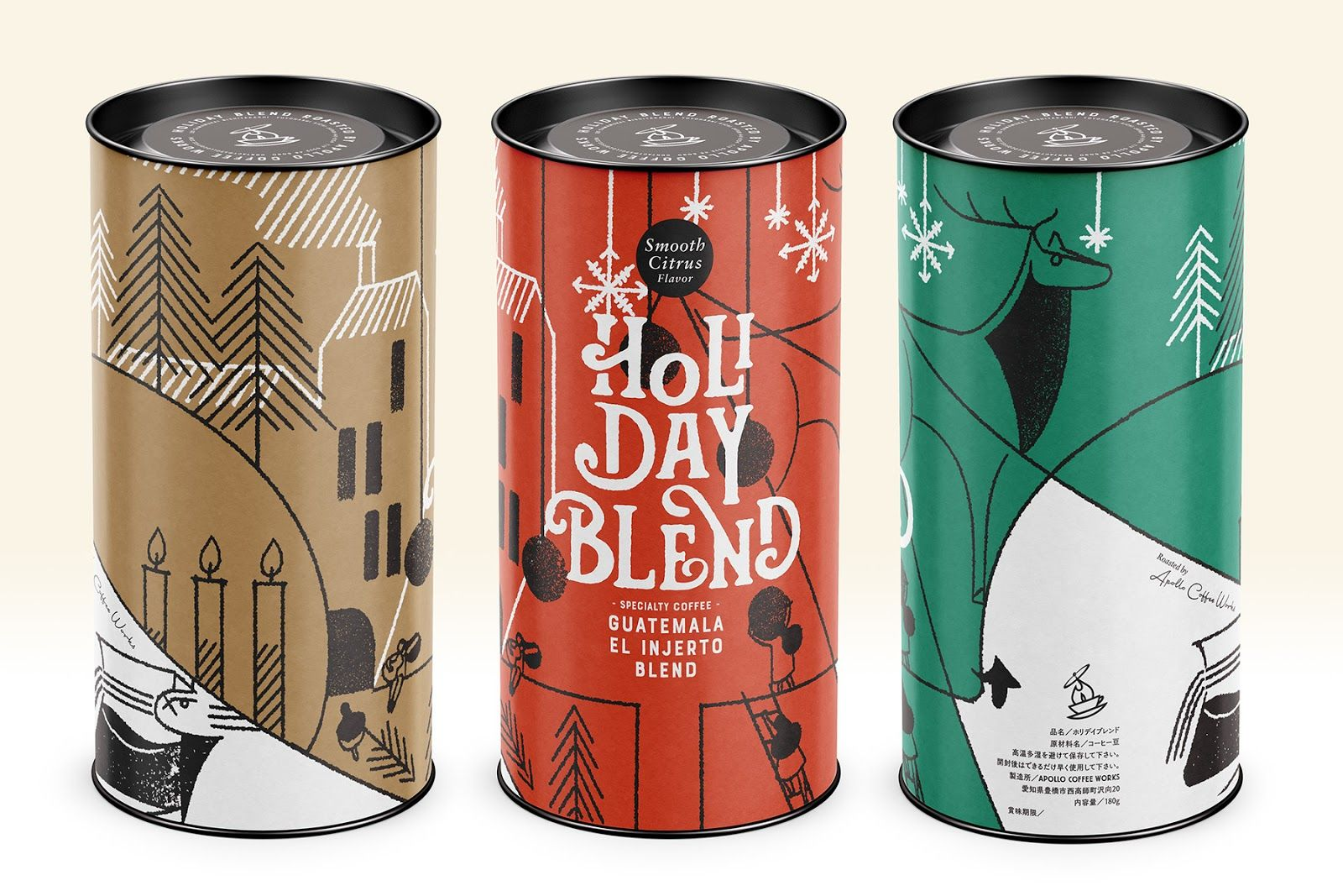 Holiday Blend Holiday Blend Creative Packaging Design Coffee Bag Design