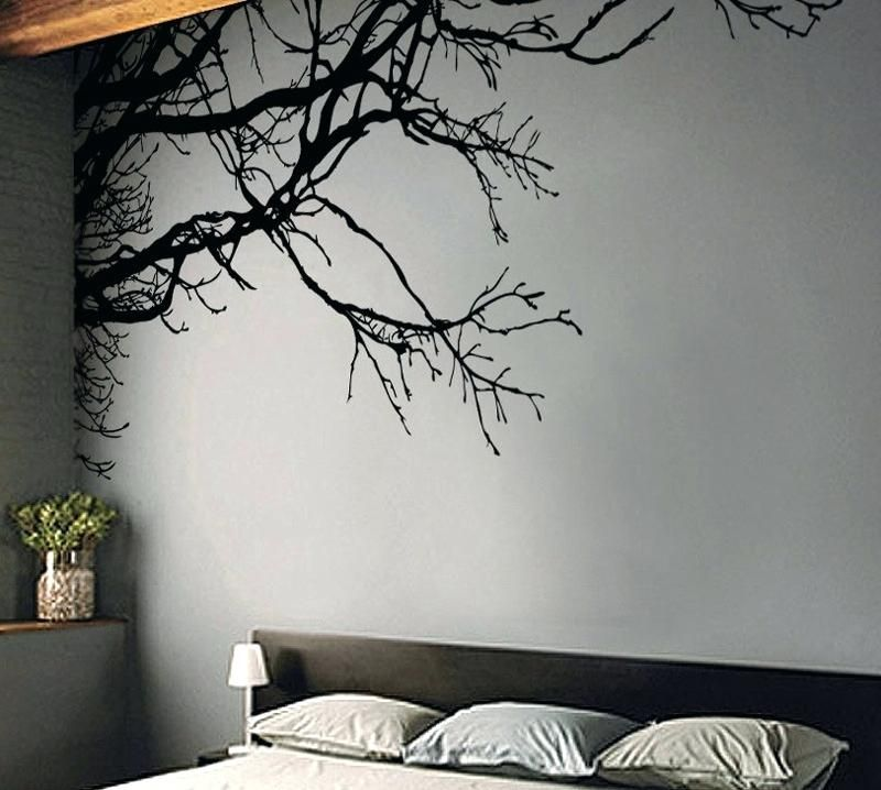Cool Wall Stickers Shadowy Tree Branches Wall Decal Wall Stickers