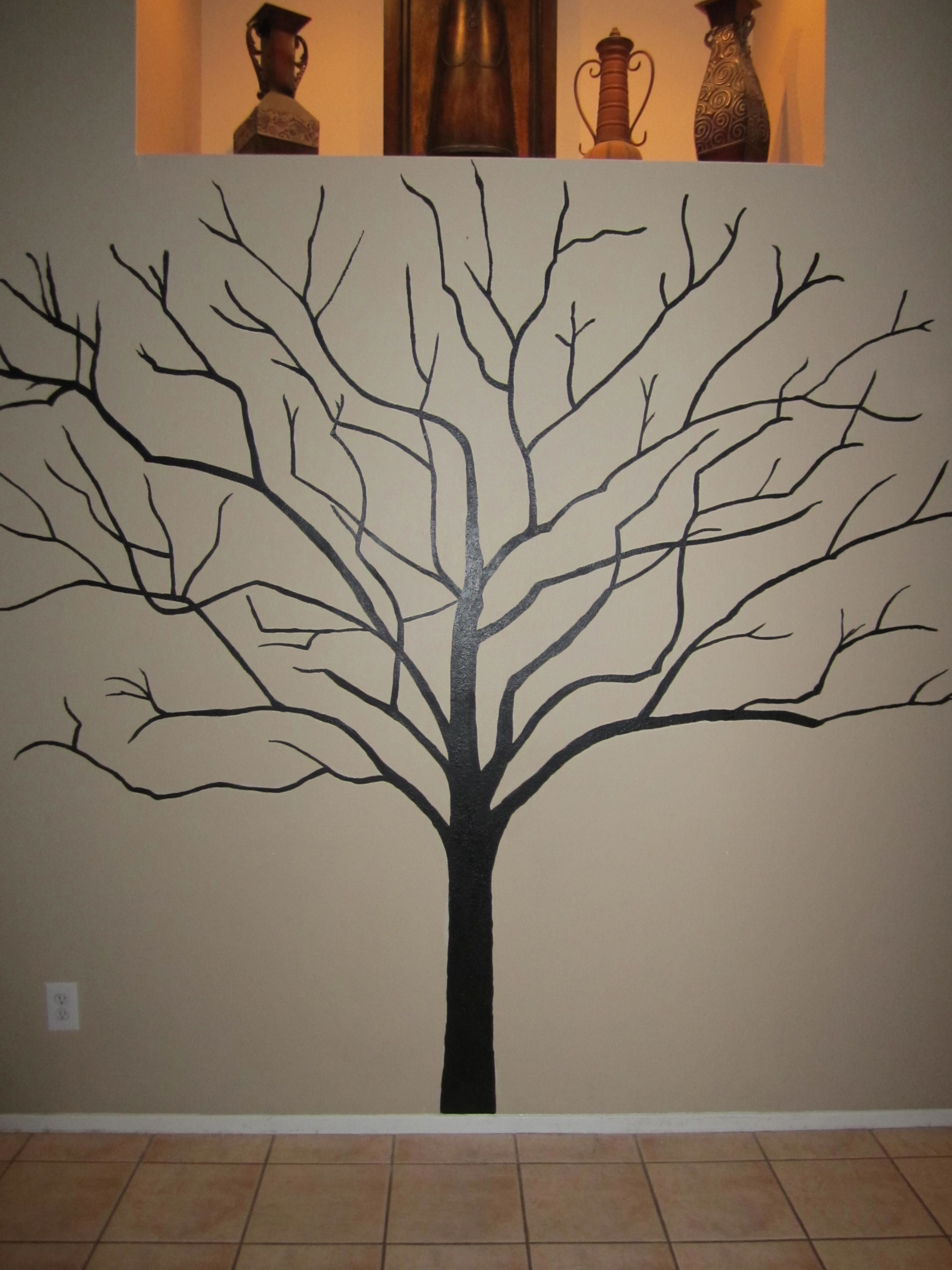 My 1st painted tree ever done on my sister and b-i-l's ...