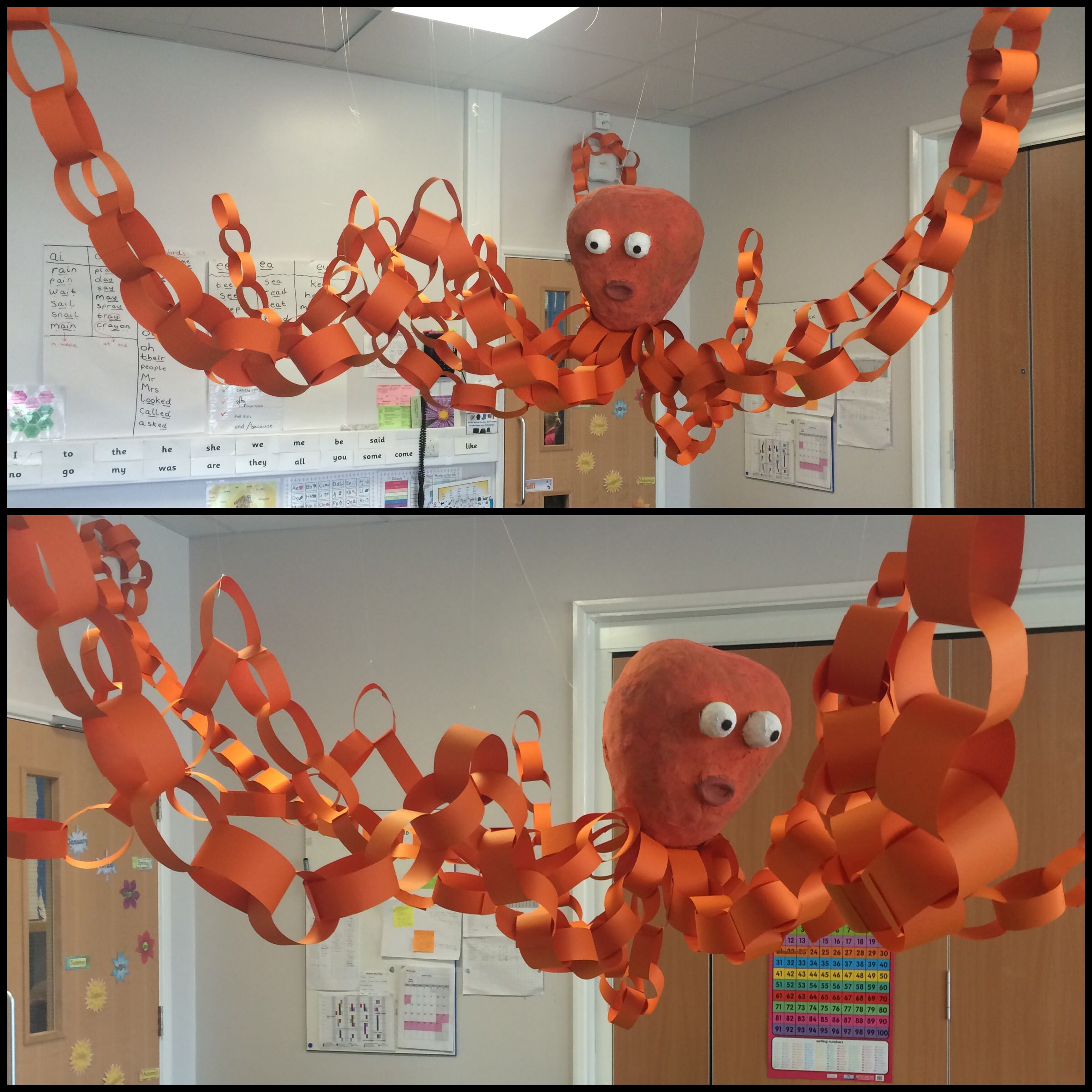 Art Ideas Ourselves Topic: Under The Sea Topic... Eyfs... Octopus... Display