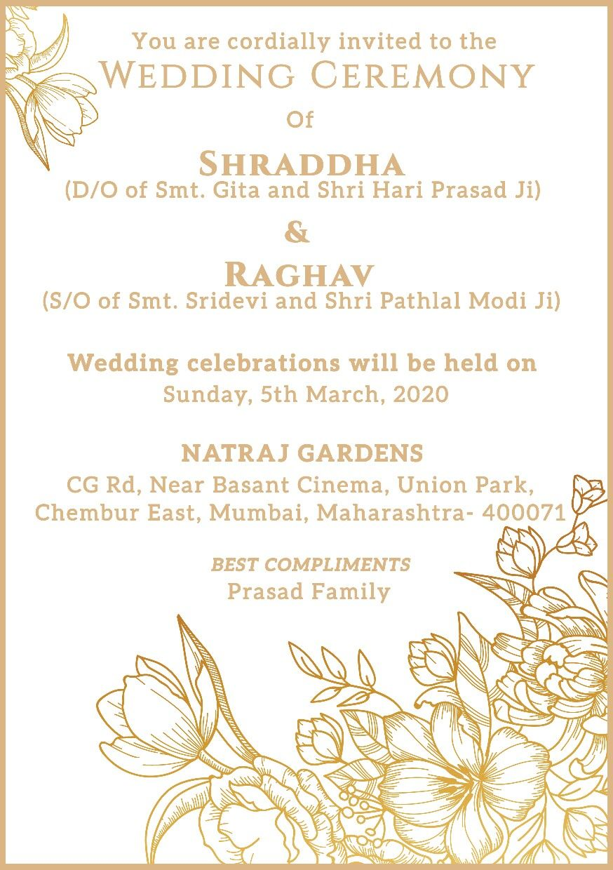 Pin By Jitesh Gupta On We Cards Order Online Indian Wedding E Invitations And Video Invitations Wedding Invitation Details Card Floral Wedding Invitation Card Floral Wedding Invitations