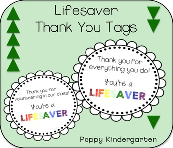 graphic relating to You're a Lifesaver Printable named Lifesaver Thank Your self Tags Inside the Clroom Thank yourself tags