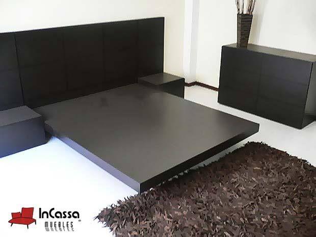 Rec mara minimalista mod florida incluye cabecera 2 for Base para cama queen size minimalista