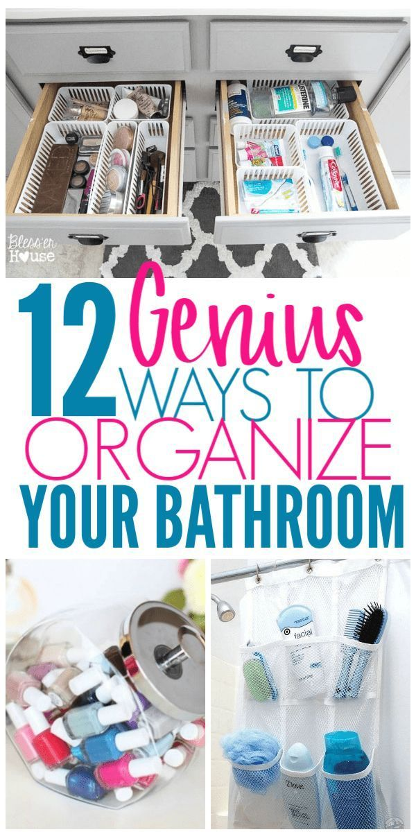 Photo of 12 Brilliant Ways to Organize Your Bathroom – Organization Obsessed