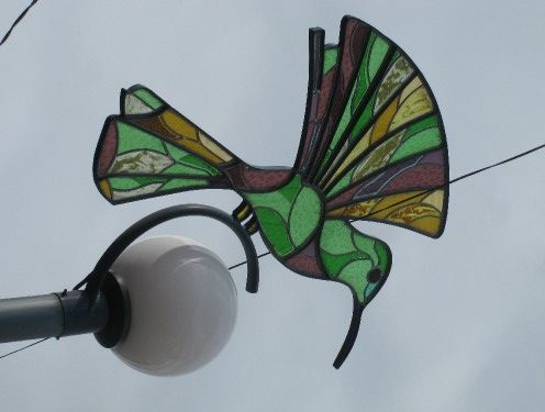 Stained Glass Street Lamp in Otavalo, Ecuador, photo via Offexploring