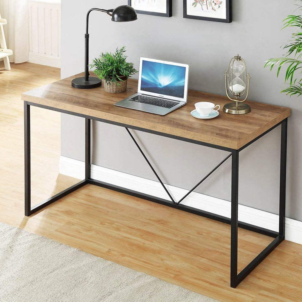 Able For Home Office In 2020 Metal Writing Desk Industrial Computer Desk Wood Computer Desk
