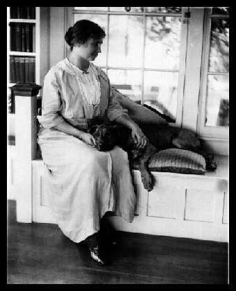 Helen Keller and her pit bull Sir Thomas