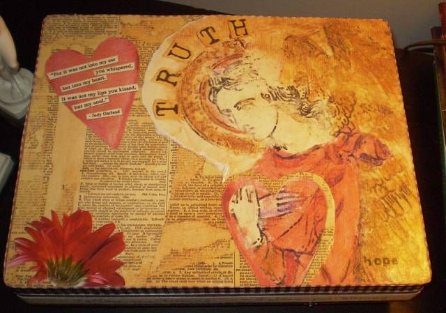 Another collaged/altered cigar box I created.