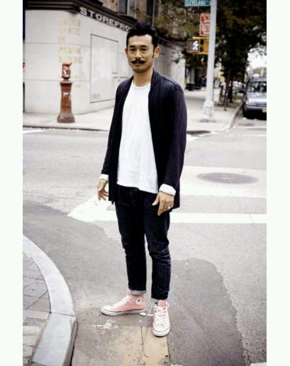 Street Style - Tommy Ton Love the pink converse shoes
